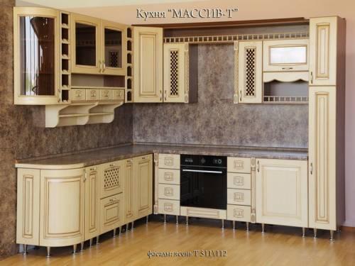 кухня из массива, ясень Т511/112