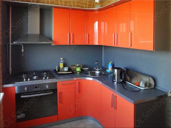 кухня эмаль глянец оранжевая