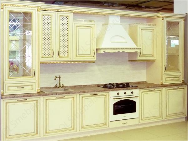 кухня мдф с патиной Тиара №70 цв. валио, золото