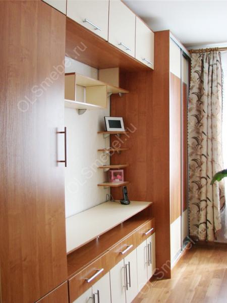 шкаф купе в спальню с комби. дверями ольха/ваниль