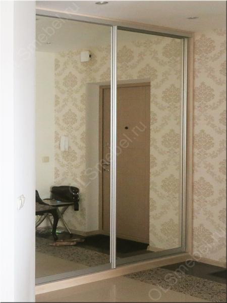 встроенный шкаф купе в прихожую с зеркальными дверями