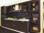 кухня МДФ рамочный, техно 1 каштан