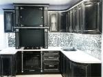 кухня мдф с патиной Тиара №65 цв. антрацит, серебро