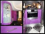 кухня эмаль глянец, фиолетовая