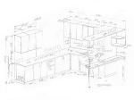 Кухня 2850/2700ммс барной стойкой, проект под окно