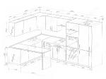 Кухня 1800/3300мм с барной столешницей