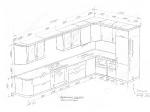 кухня 4120/2300мм с закругленным краем
