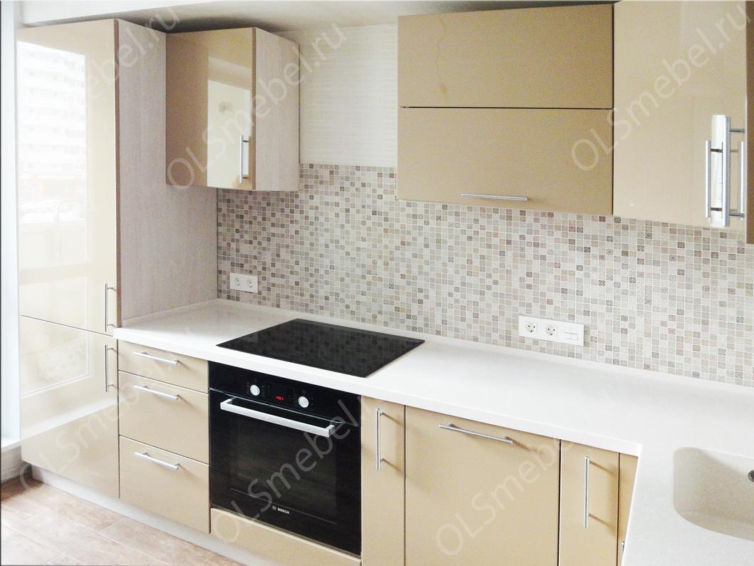 Кухня бежевая эмаль столешница столешница из мдф уфа