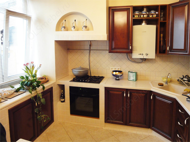 Кухня из натурального дерева черешня 6